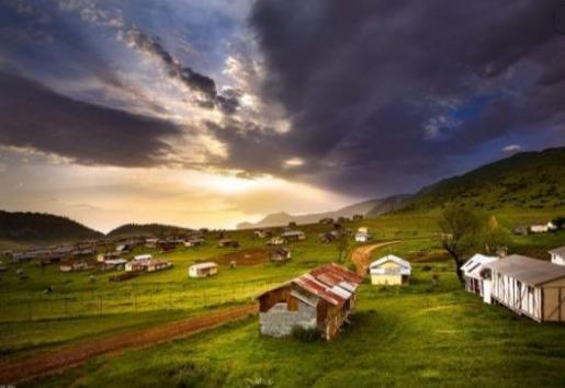 Summer resort village of Golestan