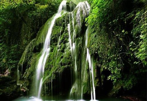 The moss waterfall of Iran